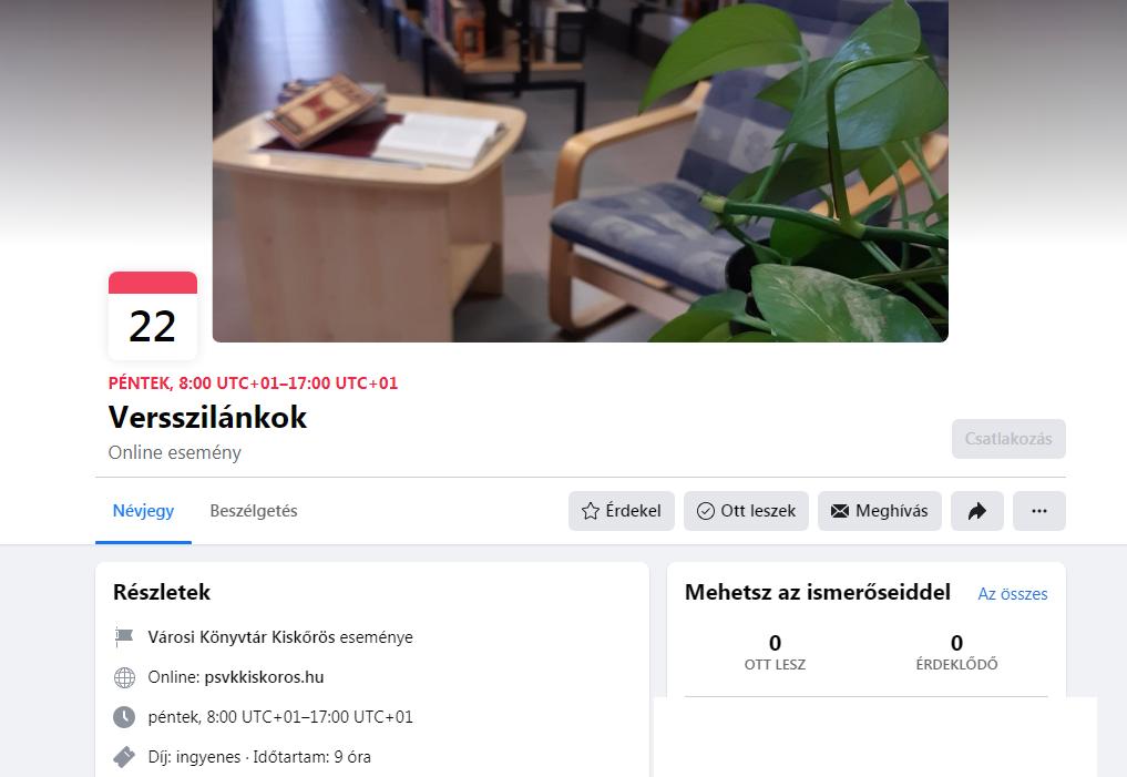Versszilánkok – ingyenes online esemény a könyvtár munkatársainak szervezésében