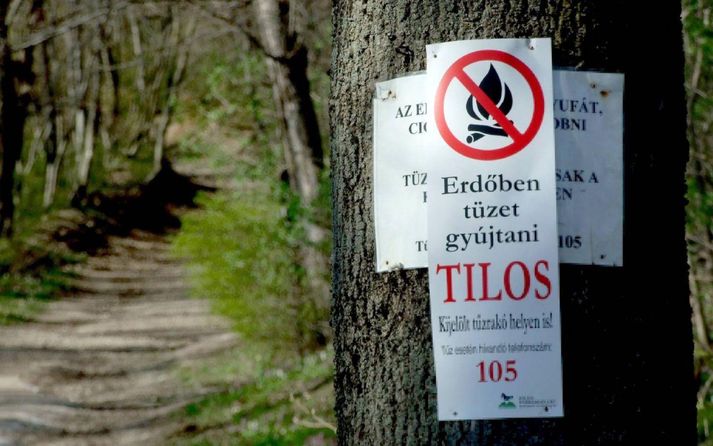 Tűzgyújtási tilalom van érvényben az egész országban